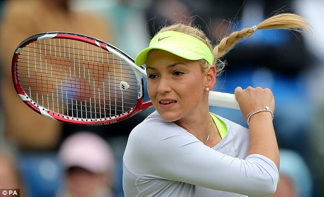 Rising star: Vekic has already made two WTA Tour finals at the age of 16