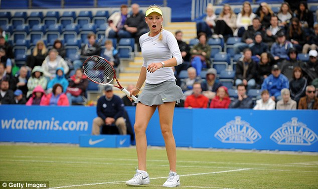 One to watch: Vekic reached the final of the AEGON Classic in Birmingham earlier this month