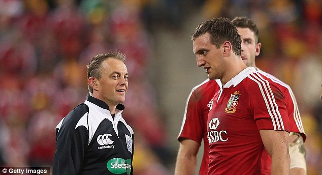 Useful: One of the reasons Sam Warburton was chosen as captain was his rapport with referees