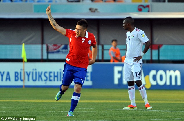 England's group rivals: Chile came from behind to beat Egypt 2-1 in the day's earlier group game