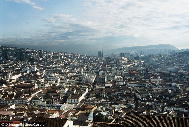 Ecuador: Snowden is likely headed for the Ecuador capital Quito, pictured