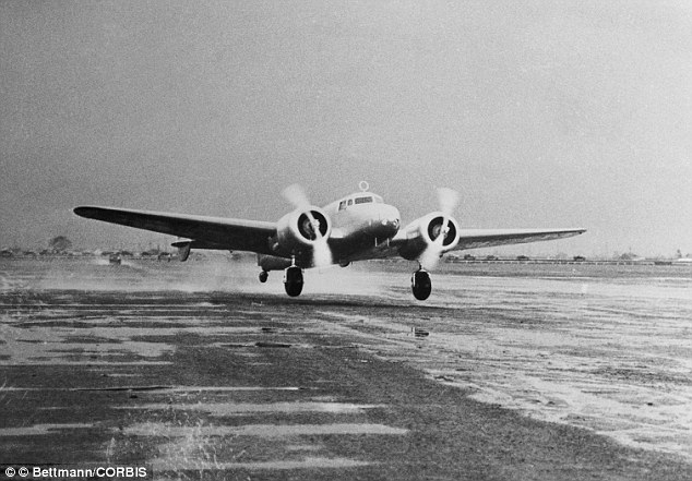 'Flying laboratory': Earhart's Lockheed Electra took off from Oakland Airport on the first leg of her proposed world spanning flight
