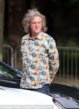 James May stairs into the distance during filming