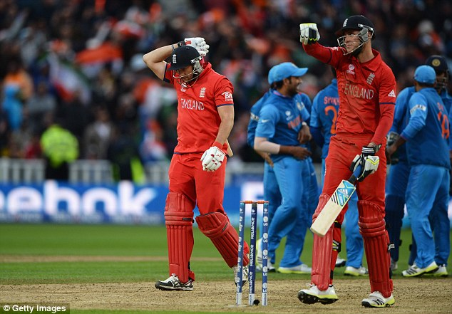 Fury: Tim Bresnan walks off the pitch as England missed a glorious chance to end their global 50-over duck