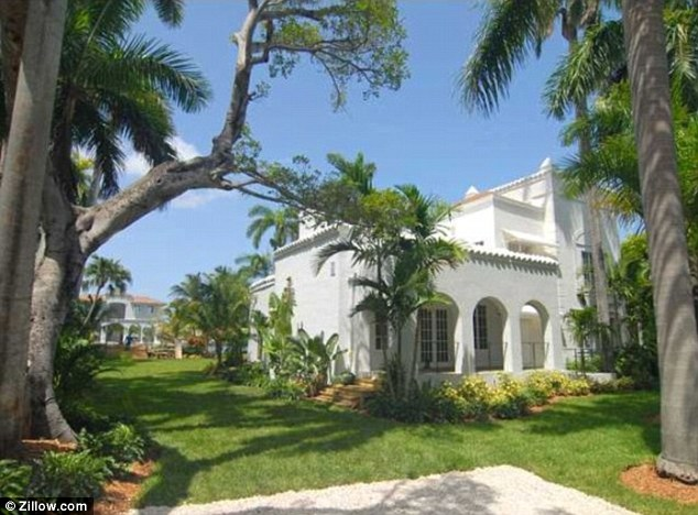 Massive: The 1928 home is located on a lot the size of a football field, right on the waterfront of Biscayne Bay