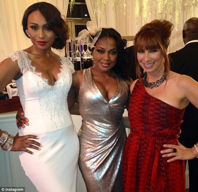 VIP guests: Cynthia, who was in the bridal party, with Phaedra and Jill