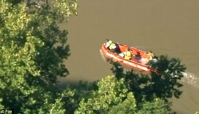 Search: Rescuers searched for days for Marks' body but it wasn't discovered until several days later, when Combs and a friend looked miles down the river