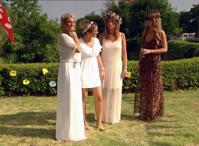 'Blimey ! We look even less natural in the countryside than we do in Essex !' From right to left: Billie, Sam, Ferne and Lauren ruin hippy chic
