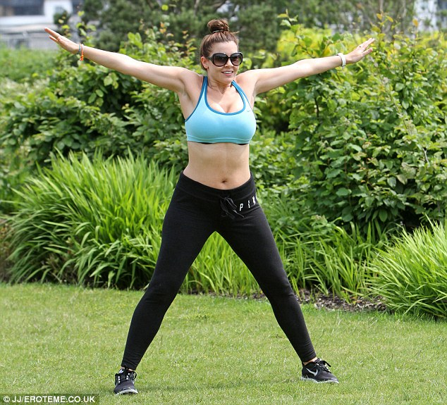 No pain, no gain! Imogen has been working hard to regain her pre-pregnancy figure and was seen embarking on a gruelling outdoors aerobics routine in a London park last week