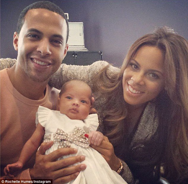 I wore it first! Rochelle and Marvin's baby Alaia-Mai wore the Mamas & Papas dress to make her Twitter debut earlier this month