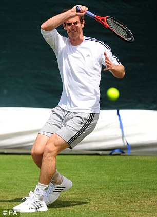 Great Britain's Andy Murray during a practice session