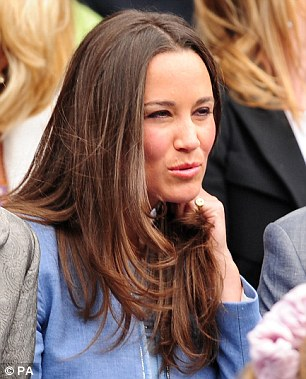 In attendance: Pippa Middleton (pictured today) is well known for her love of tennis and recently compiled a guide to the Wimbledon Championships