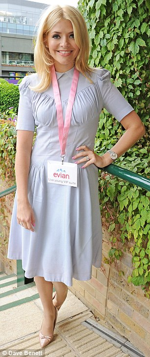 Holly Willoughby at the Evian 'Live Young' Suite at Wimbledon