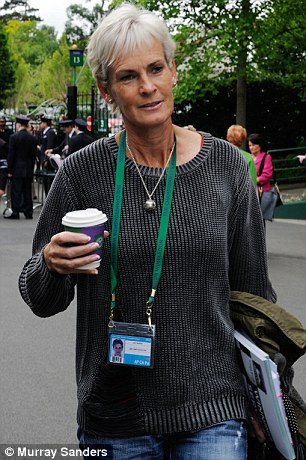 Emotional support: Judy Murray (pictured today) will move in with Andy for the duration of the tournament