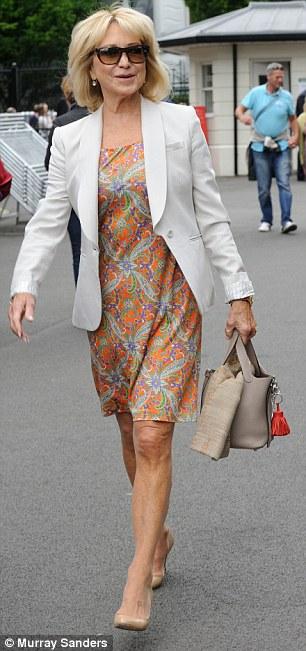 Actress Felicity Kendall arrives at Wimbledon today