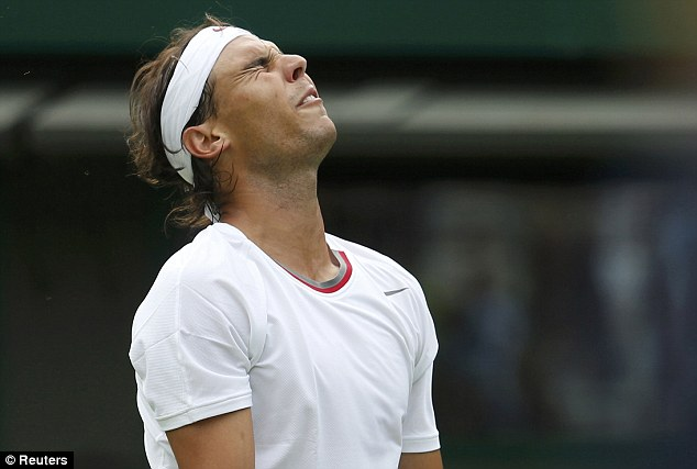 Defeat: Rafael Nadal was not at his best by a long stretch as he was defeated by Steve Darcis of Belgium