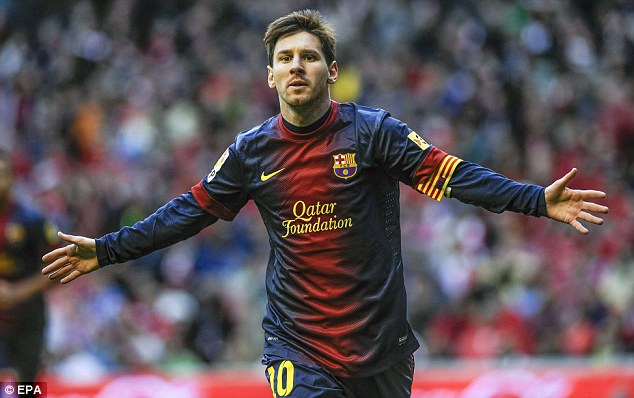 Sharing the day: Hogg is exactly five years younger than Barcelona star Lionel Messi
