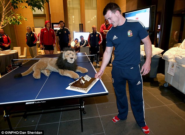 Watching on: But Hogg became allergic to Bil, the tour mascot after keeping hold of the lion