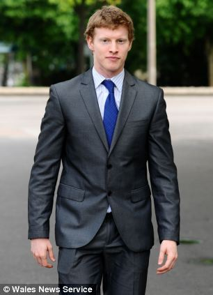 Ballet dancer Jack Widdowson pictured here outside Cardiff Crown Court