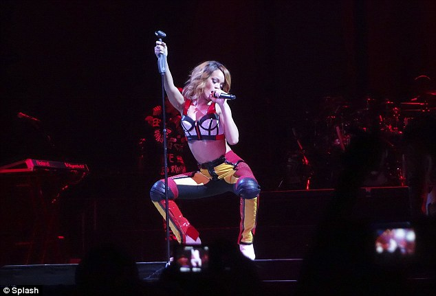Putting on a show: Despite recent controversies about her live show she seemed to be entertaining the masses
