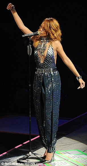 Plenty of changes: Throughout her performance she changed many times into various sexy numbers