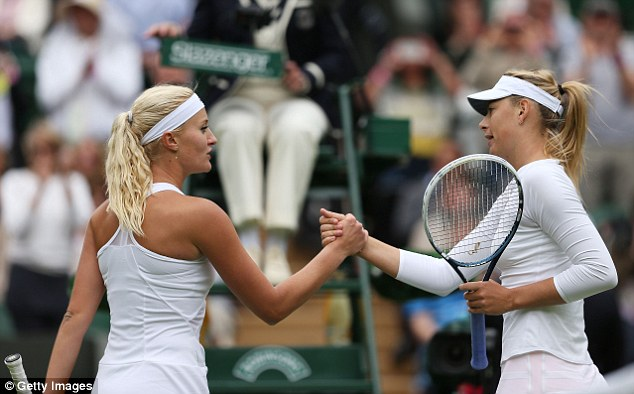 Test: Sharapova beat Kristina Mladenovic in a tight first-round match on Centre Court on Monday