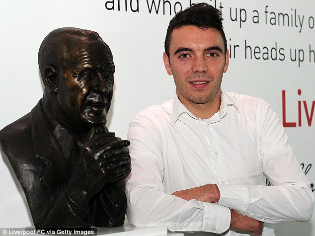 Welcome to Liverpool: Iago Aspas completed his switch to Anfield from Celta Vigo last week