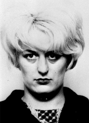 Picture of evil~; Myra Hindley, Brady's partner, who was convicted alongside him for the killings. She died in 2002, aged 60, still a prisoner