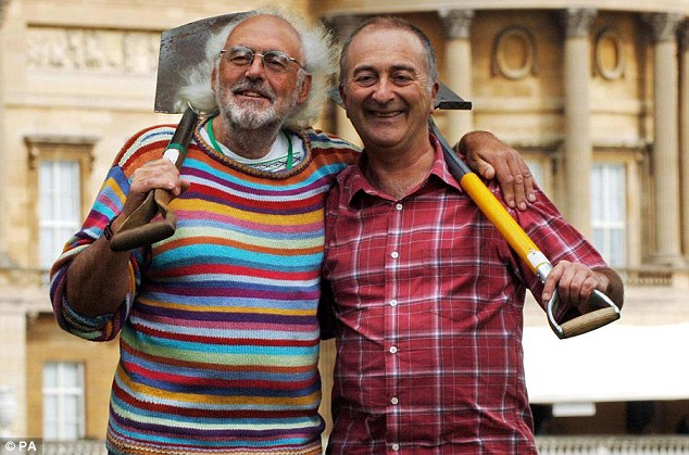 Aston worked alongside Tony Robinson (pictured together) on 19 series of Time Team