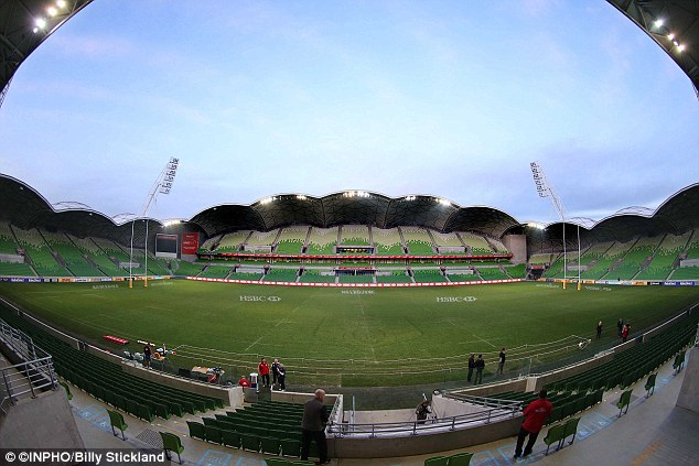 The scene is set: The view at the AAMI Park in Melbourne