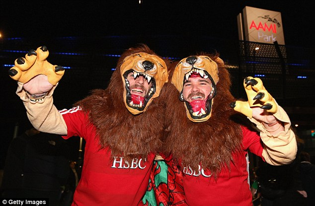 Ready to roar: Lions fans descend on Melbourne