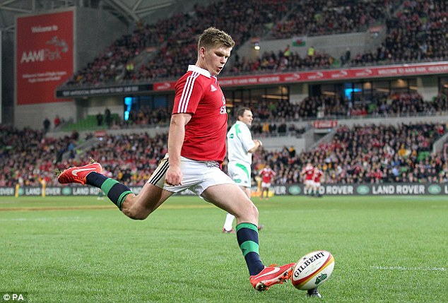 Star man: Owen Farrell was outstanding at AAMI Park