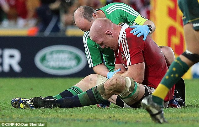 Tour KO: Lock Paul O'Connell suffers a broken arm during the Lions' 23-21 victory on Saturday