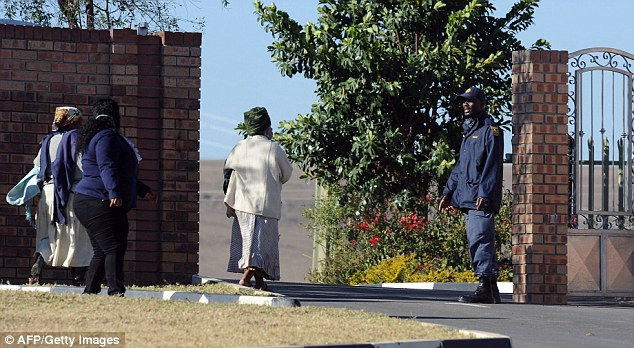 Discussion: Family elders of the Mandela family arrive the former president's home in Qunu today as he remained in critical condition in hospital
