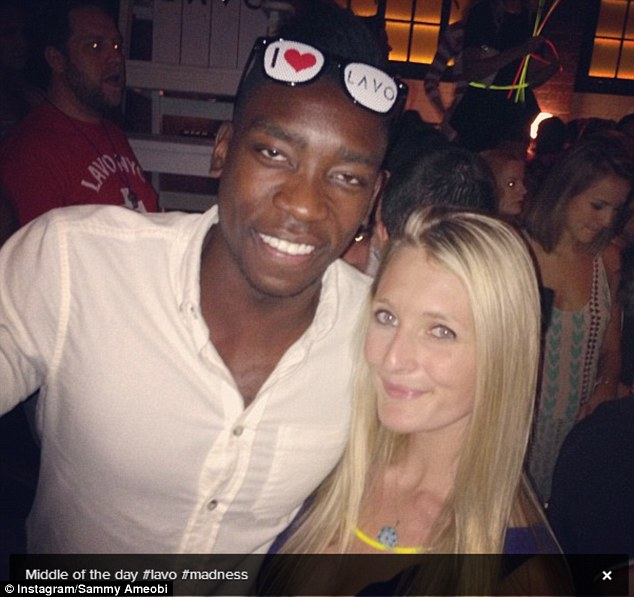 Loving the Big Apple: Sammy Ameobi seemed to be having a fine time at Lavo superclub in the daytime