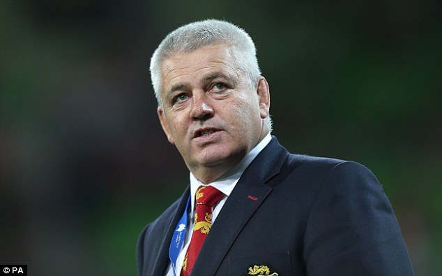 Encouraged: Warren Gatland watched his players produce a promising display