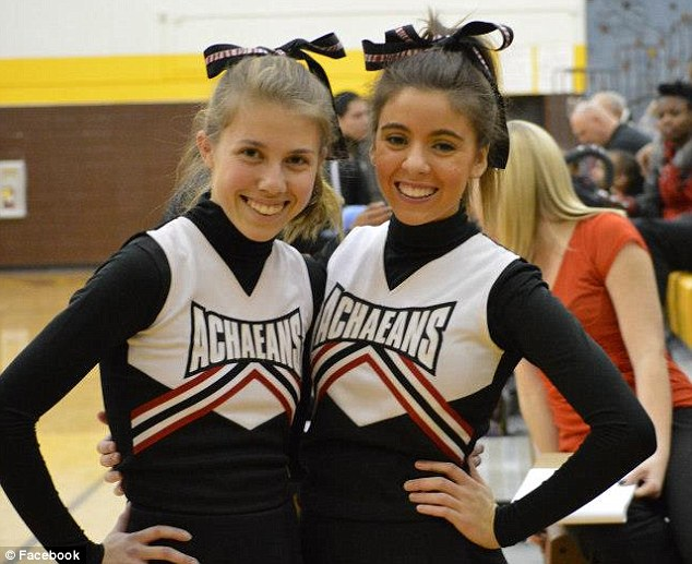 All-rounder: Miss Rawl (pictured right with a friend) is a keen cheerleader and soccer player as well as being a HIV and AIDS activist