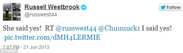Follow up: The NBA star tweeted the verdict to his one million followers on Fridayx