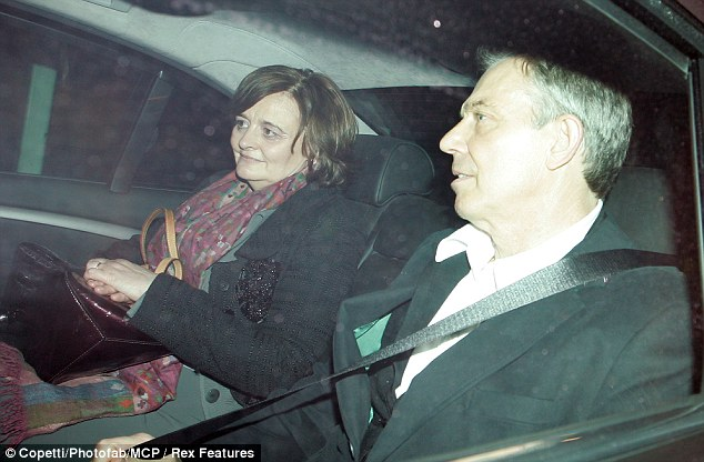Wedding planners: Cherie and Tony Blair are understood to be planning a spectacular party for Euan and Suzanne