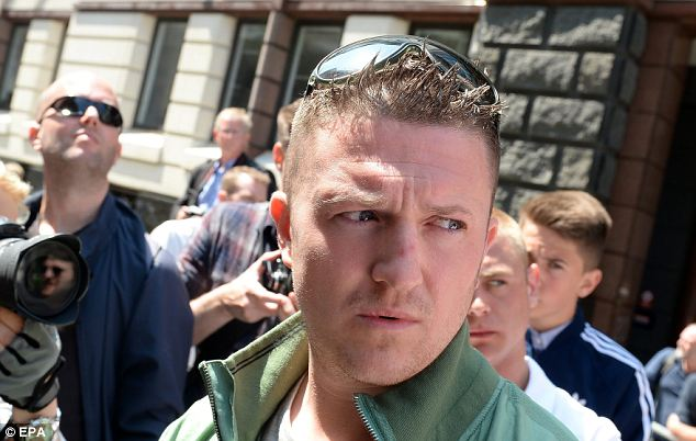 Back in the spotlight: EDL leader Stephen Yaxley-Lennon, who goes by the pseudonym Tommy Robinson