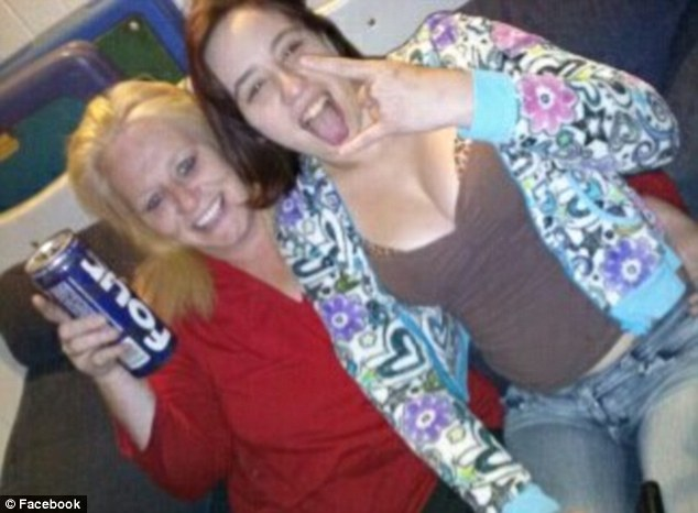 Loving grandma: Perras (left) allegedly told McCarron that she needed money to buy diapers for her grandchild