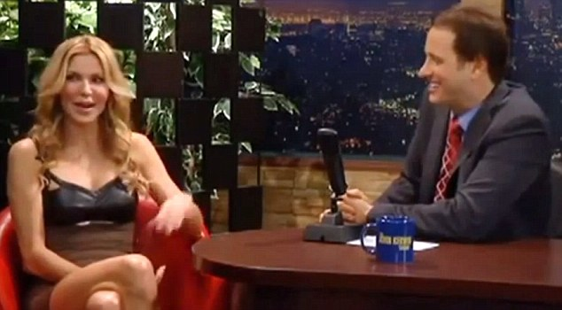 Better times: Brandi talked to Kerwin on his self-named talk show in April 2012