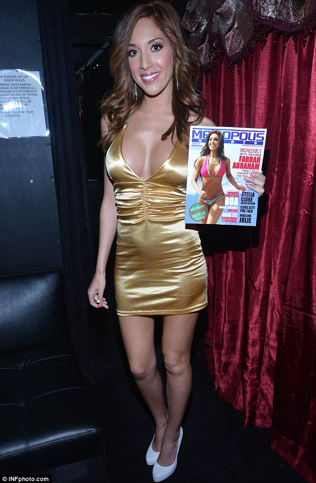 Cover girl: Farrah poses in New Jersey earlier this month during Metropolis Nights appearance