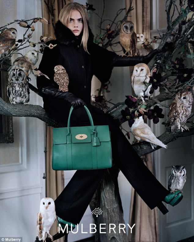 Top of her game: Cara's stunning campaign for Mulberry was unveiled earlier this week
