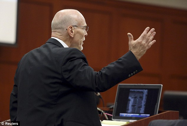 Cross examination: Defense attorney Don West questions witness Jane Surdyka during George Zimmerman's second-degree murder trial