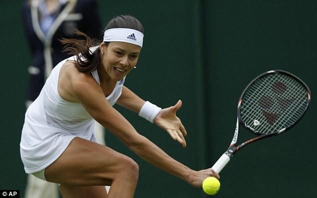 Love match: Ana Ivanovic has plenty of fans at Wimbledon