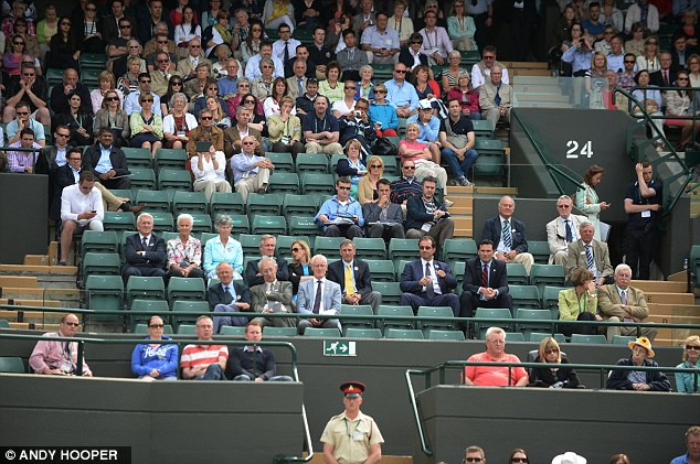Anyone for tennis? There were a few empty seats for Andy Murray's match with Yen-Hsun Lu