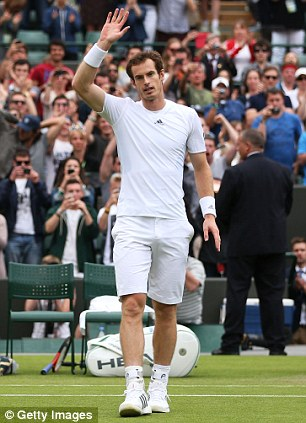 No problem: Fans inside and outside Court 1 watched as Andy Murray defeated Yen-Hsun Lu