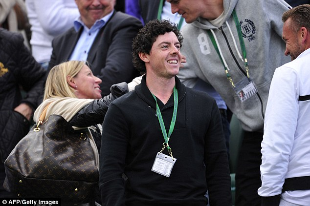 Fit and fresh: Rory McIlroy enjoyed the gym facilities at Wimbledon