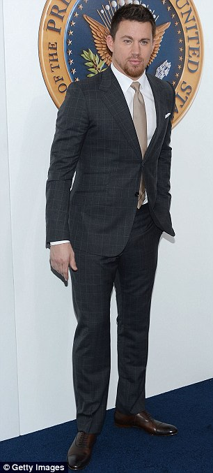 Suited and booted: Actor Channing Tatum attended in smart attire